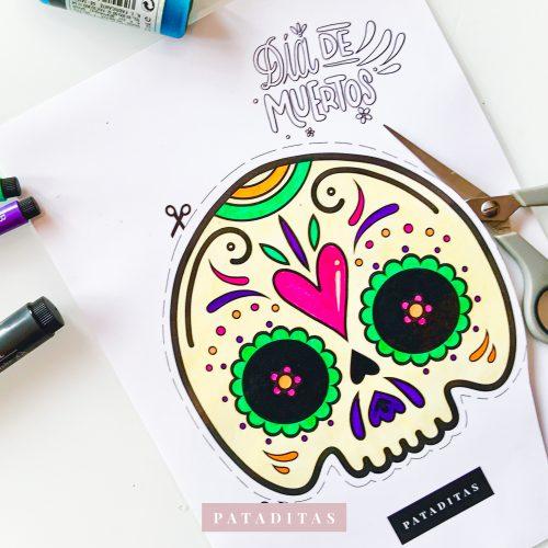 mascara careta para colorear dia de muertos halloween manualidades que hacer en halloween con ninos